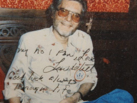 Statler Brothers fan Mary Ann Miller was sent this autographed picture of Lew DeWitt shortly before his death.