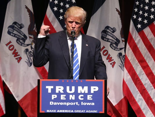 donald trump davenport iowa
