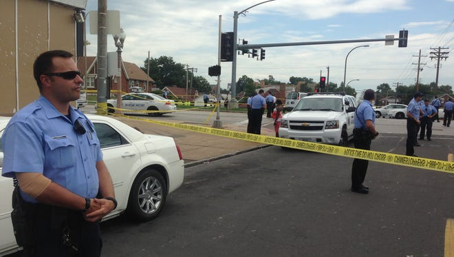 One person is dead after an officer-involved shooting in north St. Louis.