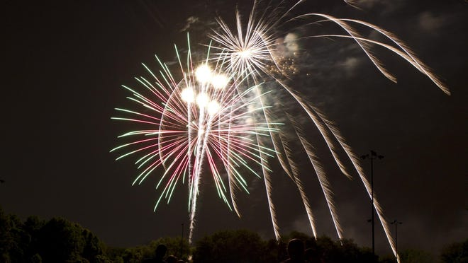 Fireworks at Joe Palaia Park in Ocean Township celebrating Fourth of July weekend last year