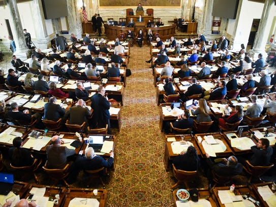 The full assembly of the state house of representatives