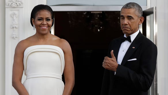 We give the first lady's ivory, strapless Brandon Maxwell