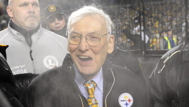 Steelers owner Dan Rooney is seen before the 2010 AFC Championship Game.