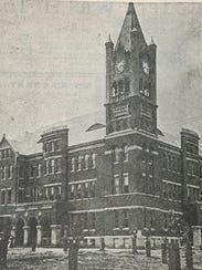 Monroe City High School was begun in 1899 under the