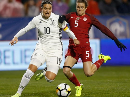 Kelley O'Hara (5) is a defender for Utah Royals FC and the United States Women's National Team, who will be in France competing in the 2019 FIFA Women's World Cup this summer.