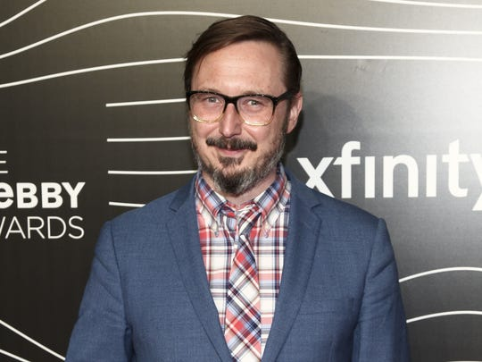 This May 16, 2016 file photo shows John Hodgman at the 20th Annual Webby Awards in New York.