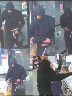 Surveillance photos taken during the robbery.