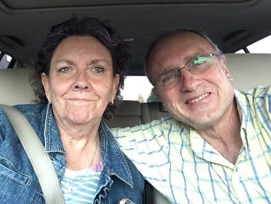 Steven Whitney with his wife, Maxine.