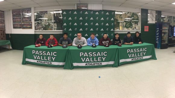 And the other part of the group of students from Passaic Valley (the fellas) who participated in Signing Day ceremonies at the school last week.