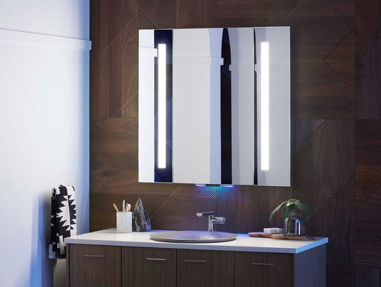 The Kohler Konnect Verdera Voice Lighted Mirror Is Part Of System A New Platform That Allows Consumers To Personalize Their Experience