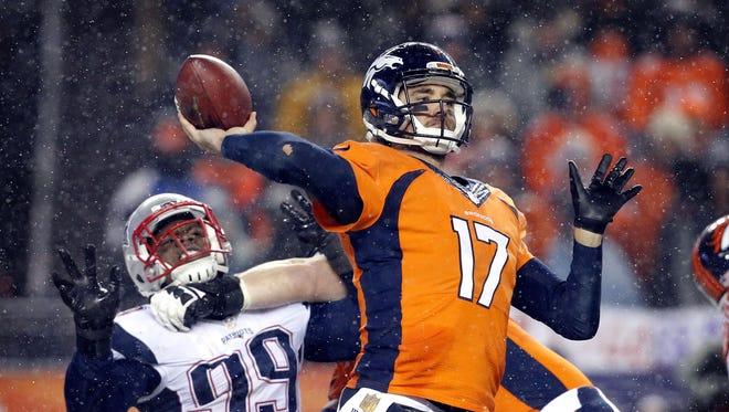 Quarterback Brock Osweiler led the Denver Broncos to victory last Thursday.