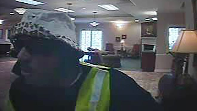 Tennessee Bureau of Investigation detectives are looking for this man who robbed Capital Bank in Portland on Oct. 7, Portland Police Department Chief Anthony Heavner said Monday.