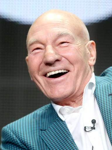 Actor Patrick Stewart speaks onstage during the 'Blunt