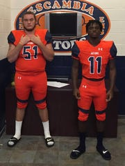Escambia Gators Justin Brown (left) and Martin McGhee