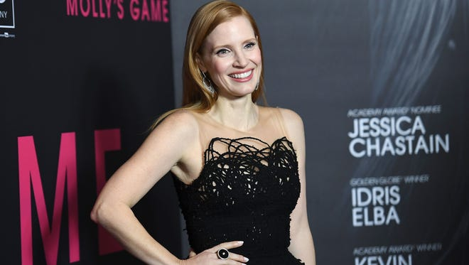 Actress Jessica Chastain attends the 'Molly's Game' New York Premiere at AMC Loews Lincoln Square on December 13, 2017 in New York City.