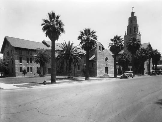 The First Presbyterian Church at Monroe and Fourth