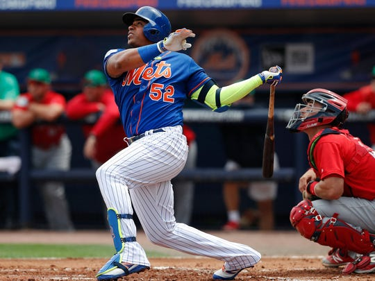Yoenis Cespedes will bat third for the Mets.