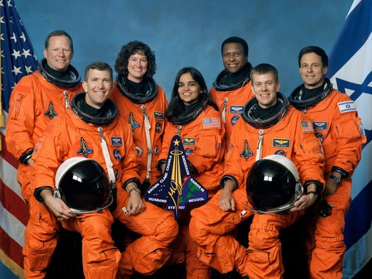 The crew of Space Shuttle Columbia's mission STS-107