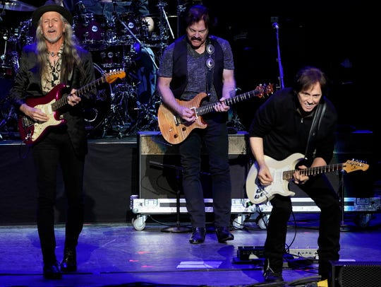 The Doobie Brothers performed on July 7, 2018, at the Xfinity Center in Mansfield, Mass.