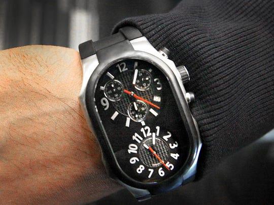 Philip Stein Teslar Double Faced Wrist Watch.