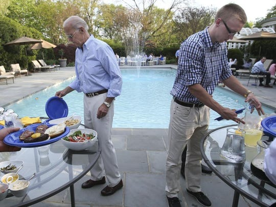 Biden pool party