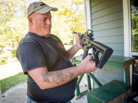 Gun owner Steven Straub decided to destroy the bump