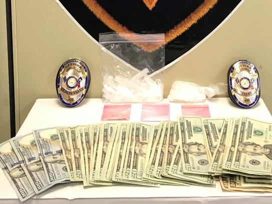 Over 70 grams of methamphetamine and $1,350 in cash