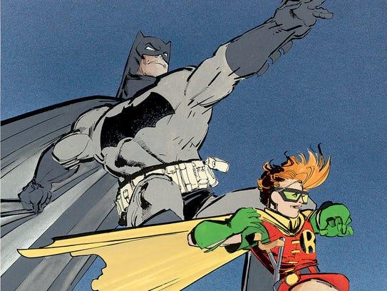 Bruce Wayne and Carrie Kelley take flight in Frank