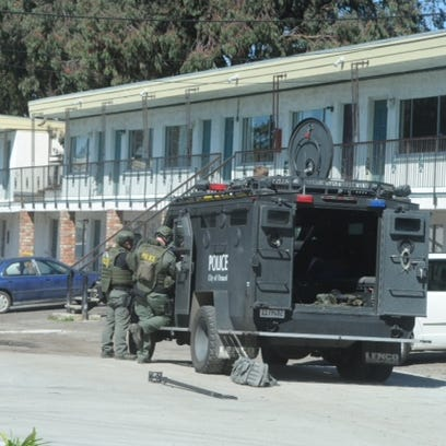 Oxnard and Port Hueneme police were searching a motel