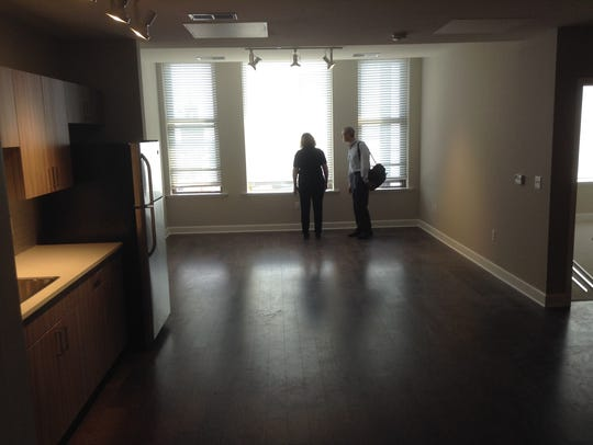 Inside one of the newly finished, one-bedroom Sibley