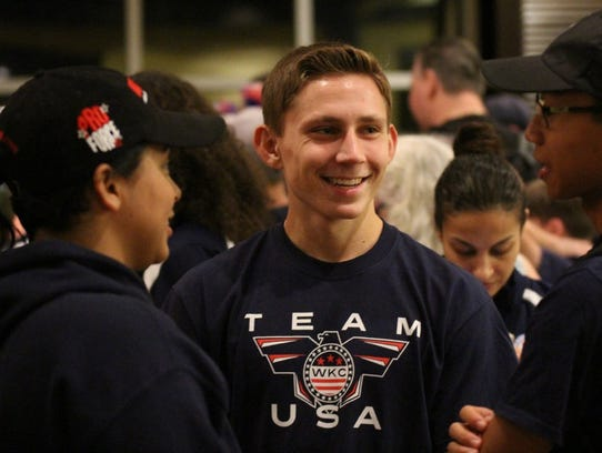 Jordan Bonenberger was at the World Kickboxing Championships in November 2017.