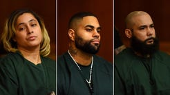 Jennifer Suriel, Luis Polanco and Angel Toro in court on Thursday, Sept. 8, 2016.