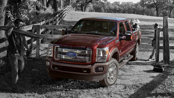 Upgrades to the 2015 Ford F-250 Super Duty King Ranch include new exterior colors and a richer leather interior.