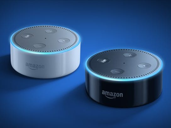 You can turn off the listening aspect of Alexa-powered Amazon devices by turning off the microphone at the top.