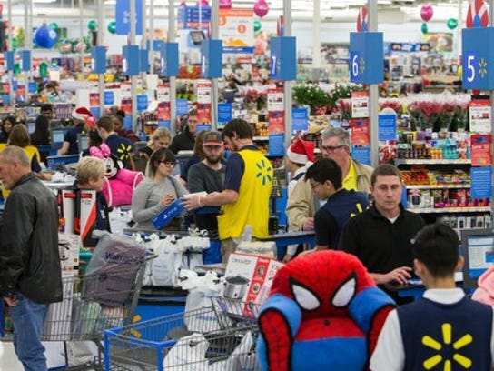 Wal-Mart has raised its minimum hourly wage to $11, effective February, but wage increases overall have been stagnant.