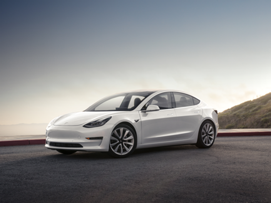 Tesla's new Model 3, the company's first foray into the mainstream electric car market.