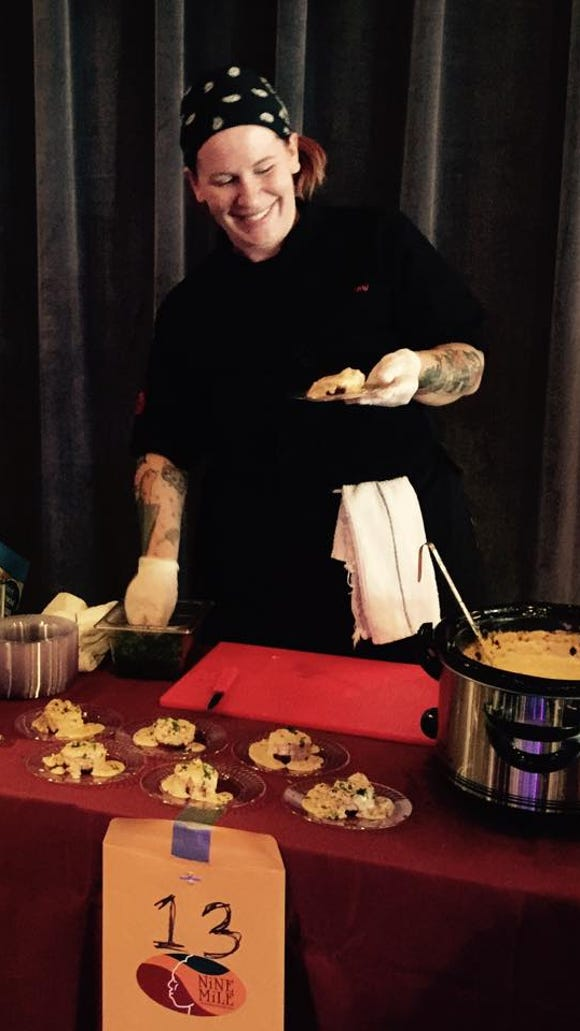 Nine Mile chef Amy Fariss at the Cajun Cook-off.