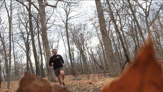 Running on the Long Path in Rockland County, New York.