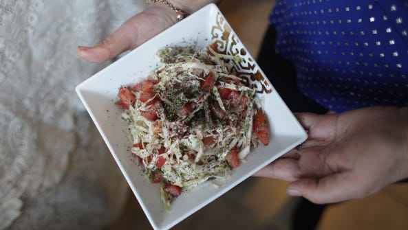 Salatet Malfoof (Cabbage Salad) is a Lebanese version