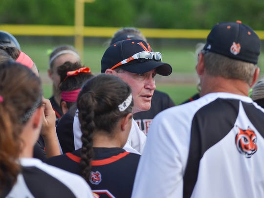 Valley's Tom Bakey led the Tigers to their first state softball title since 2010.