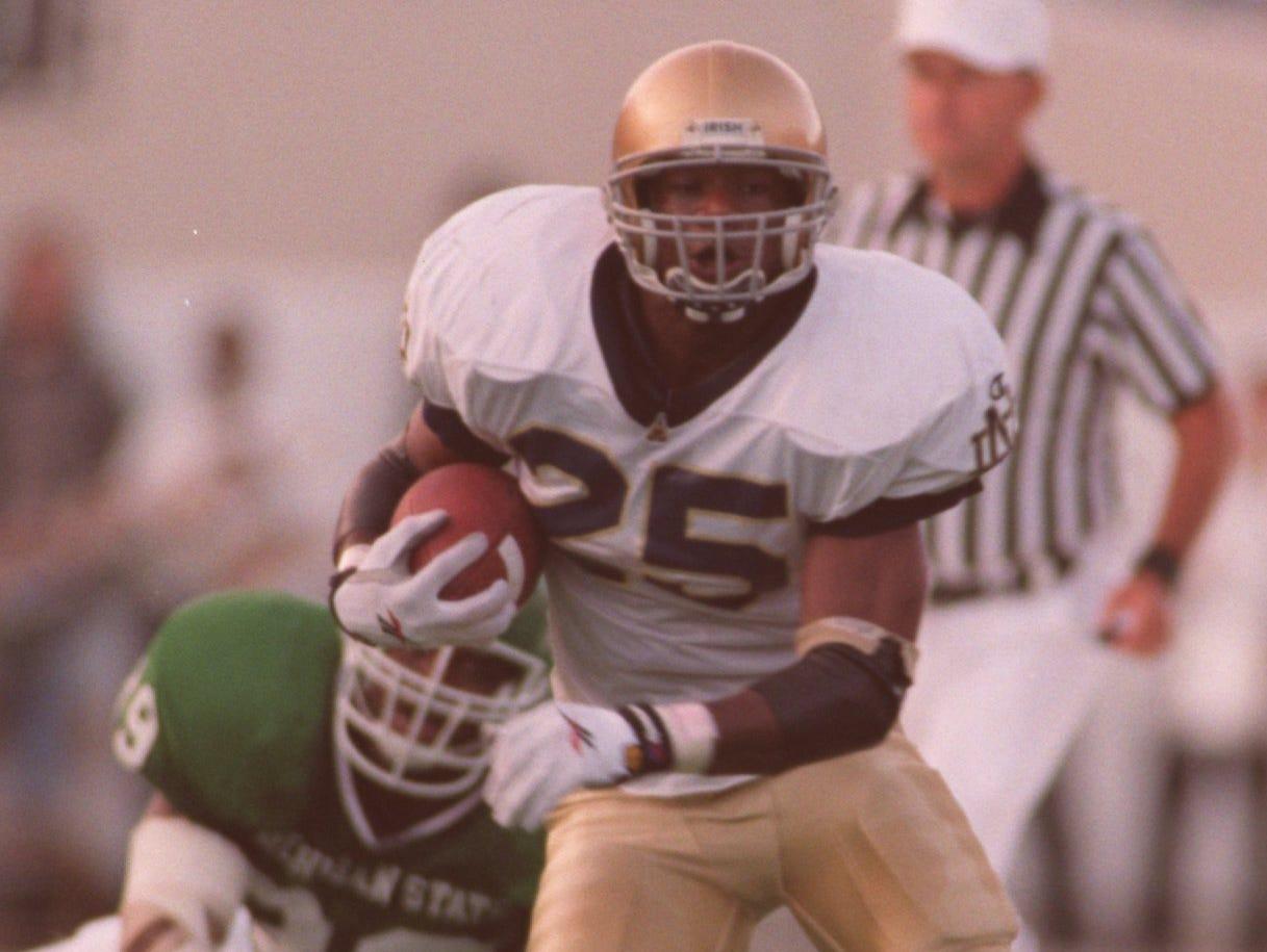 Former Notre Dame running back Randy Kinder