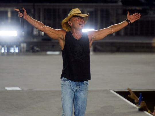 Kenny Chesney performs at Bristol Motor Speedway on Sept. 9, 2016.