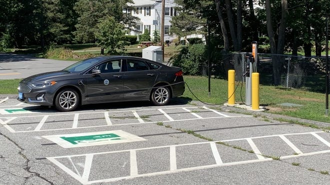 Part of Acton's Green Communities grant will be used to install an additional electric vehicle charging station in the rear lot of Town Hall.