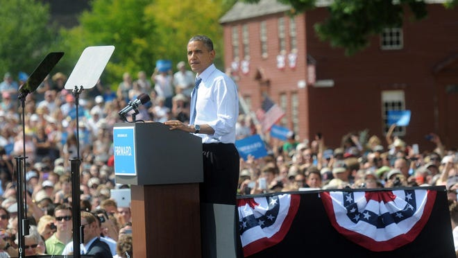 The Sept. 7, 2012, visit from President Obama and Vice President  Biden, as well as first lady Michelle Obama and Dr. Jill Biden, drew an estimated 6,000 people to Strawbery Banke in Portsmouth.