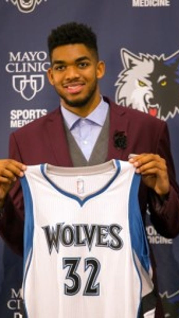 Piscataway-raised Karl-Anthony Towns is an NBA superstar with the Minnesota Timberwolves.
