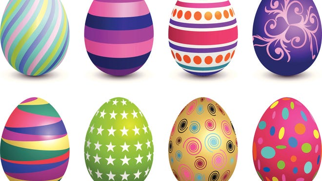 Easter eggs begin with eggs that are properly hard boiled so they're easier to peel and not discolored.