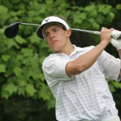 James Nicholas of Scarsdale tees off from the 6th during the the Section 1 boys golf tournament at Waccabuc Country Club on Monday.(Photo: Joe Larese/The Journal News)