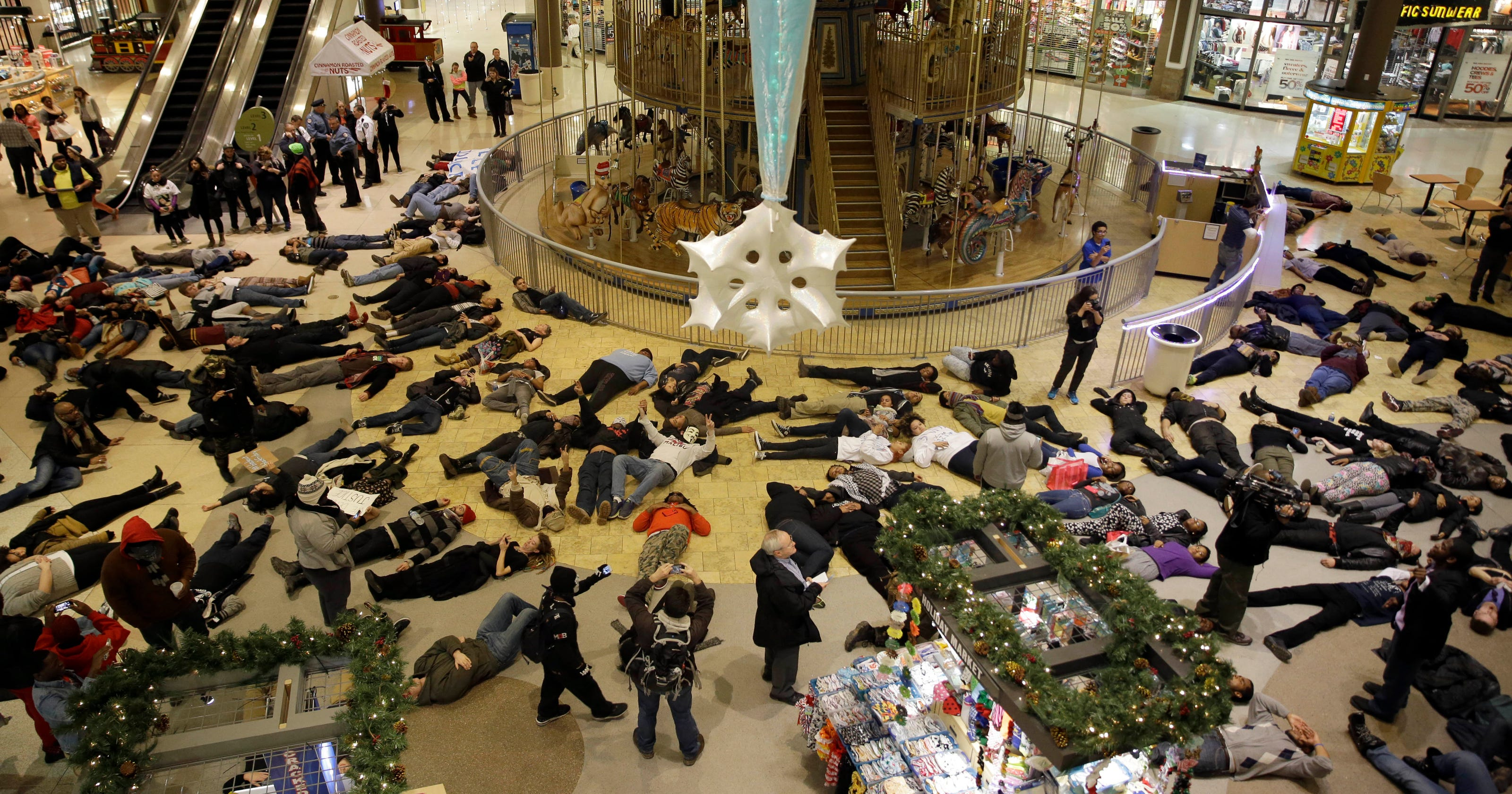 Arrests across nation as protesters target Black Friday