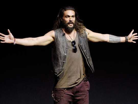 Jason Momoa, who's seen in the upcoming 'Justice League'