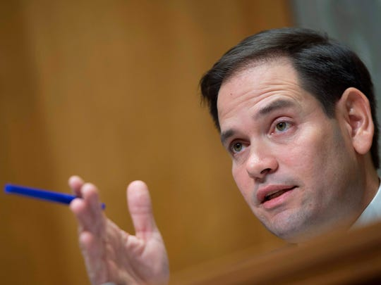 Senator Marco Rubio, R-Fla., spekas during a foreign relations hearing in Washington, D.C on January 9, 2018. Rubio has not been participating in immigration talks.